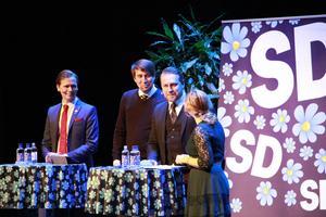 Roger Hedlund, Richard Jomshof, Mattias Karlsson och Paula Bieler.