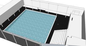 Så här ska den nya simhallen se ut.