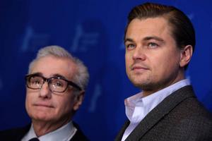 """Leonardo DiCaprio och Martin Scorsese är i Berlin med filmen """"Shutter island"""".       Foto: Joel Ryan/AP/Scanpix"""