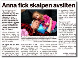 I tisdags berättade NA om en olycka som inträffade på Sannabadet i Kristinehamn, då en kvinna fick håret och en bit av huvudsvålen bortsliten då bassängbottnen plötsligt sänktes.