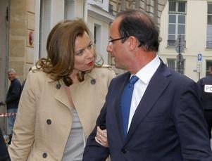 Valérie Trierweiler och president François Hollande.