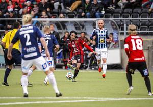 Brwa Nouri slår passningen som blev upptakt till 1–1-målet. Linus Sjöberg mötte och klackade vidare till Modou Barrow som sköt i nät.