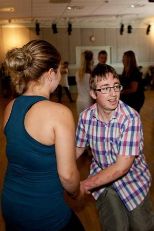 Detta var andra gången som Angelica Sjöholm höll en dans för funktionshindrade i Borlänge.