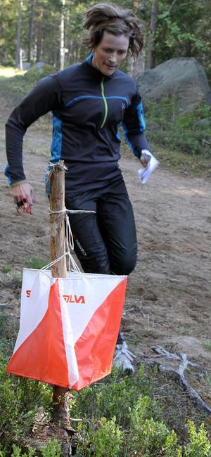 Hanna Gäfvert hann berätta att hon sprungit lite orientering förr och att hon ska springa O-ringen i år.