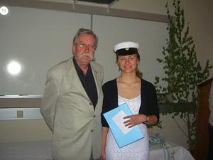 Nadja Dologwa fick stipendium av Rotary Fränsta.