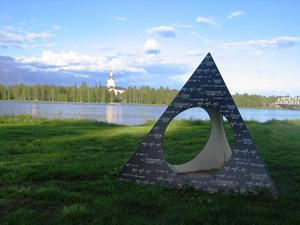 I Haparanda vid Torne älv finns monumentet