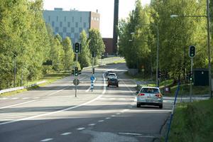 Vid Hemmanet kommer hastigheten att sänkas till 50 km/h när trafikljusen tas bort.