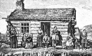 STORFAMILJ. Mormonerna har väckt uppseende genom att förespråka månggifte. På det här träsnittet från 1890-talets Utah syns en man, omgiven av sina sex hustrur.