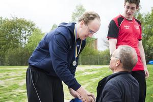 Gustav Ljungberg från Njurunda tog flera medaljer under mästerskapet.