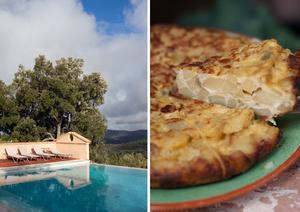 Finca Buenvino i Andalusien är rofyllt och avslappnande. Spansk tortilla – en klassiker på Finca Buenvino.