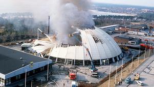 Z-kupolen i Östersund brann våren 1989