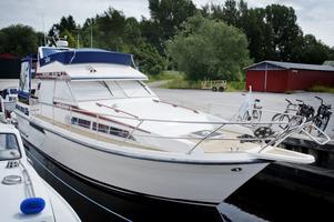 Småbåtshamnen vid Svartån.