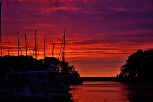 En vacker kväll i Juli med solnedgången i bakgrunden.