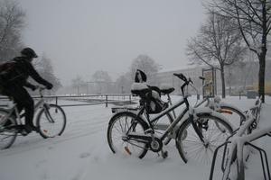 Tappra Örebrocyklister på fredagsmorgonen.