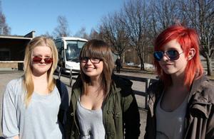 Vera Wesstling, Sofia Edsvik och Mimmi Bergström såg fram emot att åka men insåg samtidigt att det kan komma att bli jobbigt
