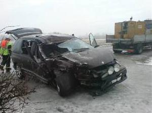 Bilens högra sida blev ordentligt intryckt.