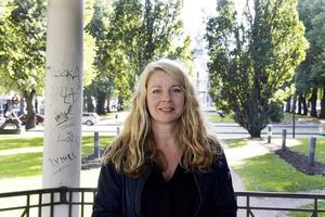 En av Kerstin Carlssons favoritplatser i Gävle är Esplanaden, bara ett stenkast från hennes arbetsplats.