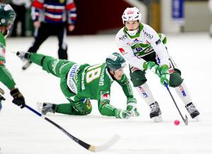 Pekka Rintala i aktion vid mötet med Hammarby.