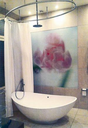 En bild på badrum av lite lyxigare snitt finns med i materialet som polisen samlat på sig om resandet.