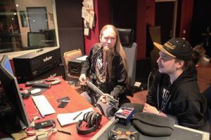 Marcus Edvardsson och Hugo Nylander i Souldrainer, under inspelningen av kommande skivan i en studio på Frösön.
