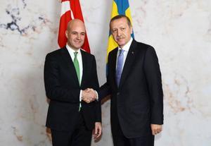 Handskakning i Rosenbad mellan Sveriges statsminister Fredrik Reinfeldt och Turkiets premiärminister Tayyip Erdogan var det i går vid det turkiska statsbesöket. Men diskuterades de svåra frågorna, kan man undra?