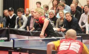 Hampus Nordberg gav Suif lite hopp när han besegrade Mattias Stenberg i tre raka set.