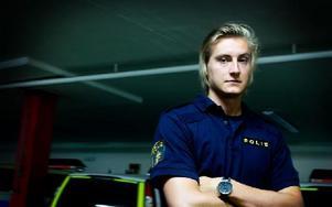 Olle är polisaspirant i Falun och är en av de som sökt till tjänserna hos Dalapolisen. Foto: Sofie Lind