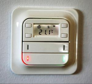 Med det här reglaget kan en rad funktioner styras. Bland annat temperaturen.Foto: Lars Dahlström