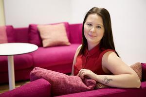 Vill starta eget.  Amanda Broman jobbar som säljare men kan tänka sig att starta ett eget företag så småningom.
