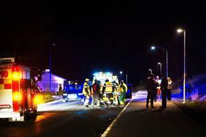 En mopedist fördes med ambulans till Östersunds sjukhus efter att kört omkull på måndagskvällen.