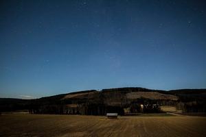 Stjärnhimmel över Sörby i Järvsö, där Anna bor.