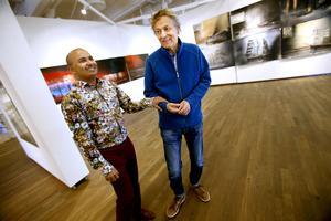 Maken Manoel Marques jobbar som intendent på Sandgrund, före detta dansbandspalats, numera Lars Lerins permanenta konsthall i Karlstad.