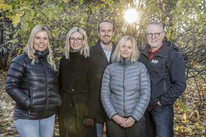 Lina Lindbäck. Hanna Thelenius, Jonas Ödén, Anna Sundkvist och Stefan Nolervik är kvintetten bakom ÖP Magasin som ser dagens ljus i vår.