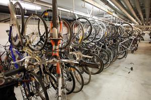 Känner du igen din cykel? I polisens källare i Västerås trängs de upphittade cyklarna. Vissa är fina, andra skrot. Det gemensamma för de flesta är att de har stulits någonstans i Västerås. Få cyklar är stöldskyddsmärkta.