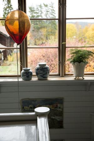 Glasballongerna har Rolf Svartström skapat.