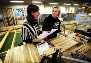 Lina Serning och Helena Brusell arbetar tätt i hop för att tankarna på upplevelseparken ska bli verklighet.