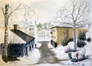 Akvarell av Håkan Sjöberg.