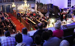 MIdvinterkonserten drar stor publik till kyrkan varje år. Foto Arkiv/Jon Holmén.
