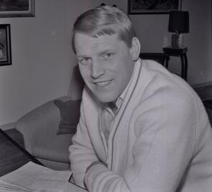 Hemma hos-reportage av Söderhamnskuriren den 7 mars 1969. Dallas, Broberg och hela Söderhamn laddade då som bäst för SM-finalen mot Katrineholm.