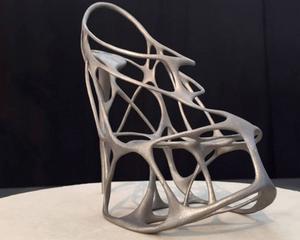 Skon i stål har lager för lager printats fram vid Sandviks forskningscentrum för 3D-teknik i Sandviken.