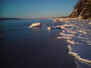 Nylagd is på Brunflovken luciamorgon 2008, förevigad av Folke Kron.