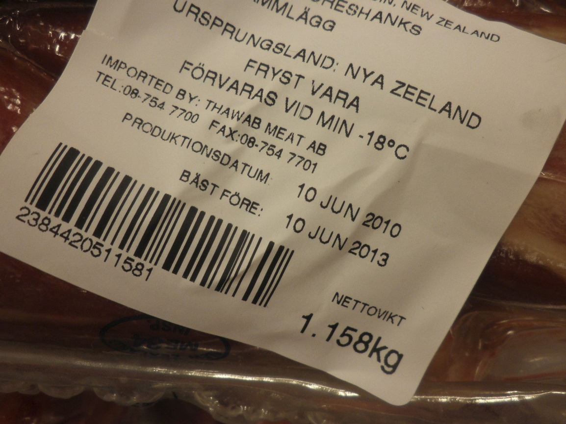 bäst före datum kött