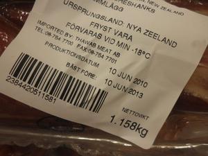 Lammkött. Det här köttet styckades i juni förra året och ska enligt producenten hålla lika hög kvalitet efter tre år i frysen. Foto: Annette Grandin