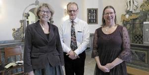 Berit Nilsson, Walters Börje och Annica Stahre Östberg låg bakom söndagens gudstjänst i Svärdsjö kyrka där man bland annat kom in på ämnet hemmafödslar.