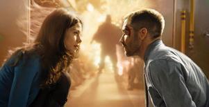 Jake Gyllenhaal återupplever samma bombdåd om och om igen i Source code.Foto: Noble Entertainment