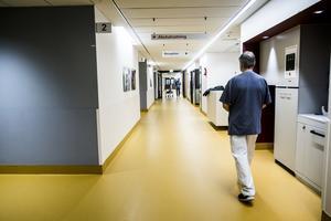 En korridor i Nya Karolinska sjukhuset.