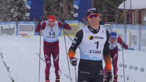 Oskar Svensson vann sprintfinalen i Gällivare. Foto: Skärmdump/SVT