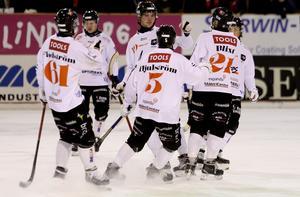 Robin Andersson spelade fram Martin Flodström till 2–1 i den första halvleken.