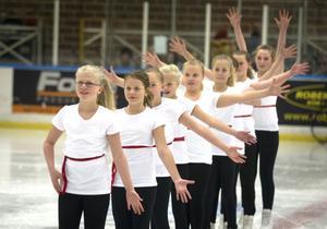 De yngsta tävlingsåkarna gjorde en strålande uppvisning.