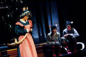 Mössens gammelfarmor Gustava görs av Annika Persson. Maja Hedén och Niklas Svelander spelar Vera och Vincent.